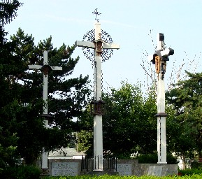 Above: Shrine of the Three Crosses.